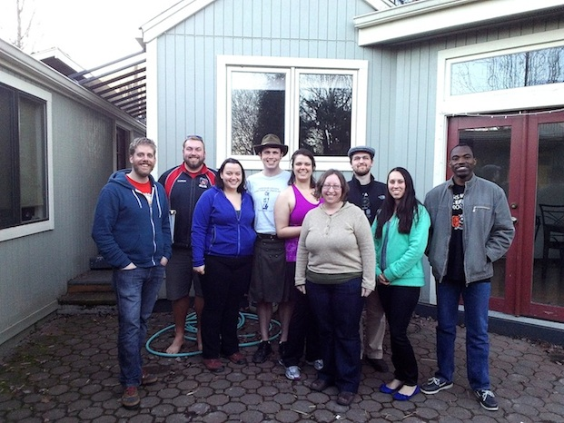 Your 2014 CGE Bargaining Team! From left: Joey Hulbert, Kris Osterloh, Ashley Bromley, Thomas Morrill, Elizabeth Hardardt, Terese Jones, Forrest Parker, Alisha Jones, Kalbi Zongo.