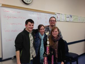 CGE Winter 2014 trivia champs, from Forestry, Trees Get Degrees!